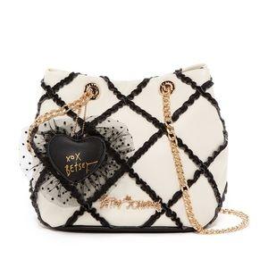 Betsey Johnson Cross Your Heart Drawstring purse